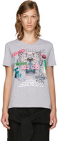 Kenzo Grey Limited Edition 'Flyer x Tiger' T-Shirt