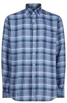 Paul & Shark Tonal Check Linen Shirt