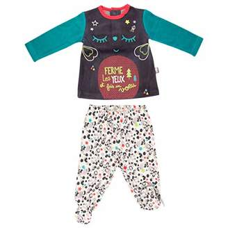 Camilla And Marc Baby 2 Piece Fleece Pyjamas with Feet Wish - 9 Months (74 cm)