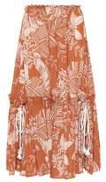 See by Chloe Printed cotton-blend midi skirt