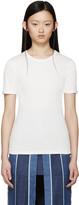 Acne Studios White Ribbed Calypsa T-Shirt