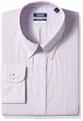 Izod Men's FIT Dress Shirt Stretch Check (Big and Tall)