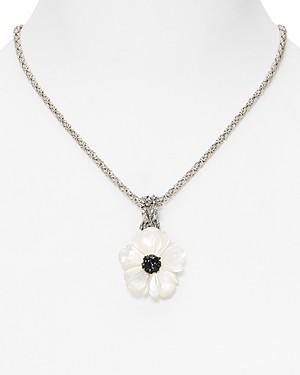 Stephen Dweck Stehphen Dweck Black Sapphire Flower Pendant Necklace, 18 - 100% Exclusive