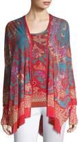 Fuzzi Women's Printed Shawl Collar Cardigan