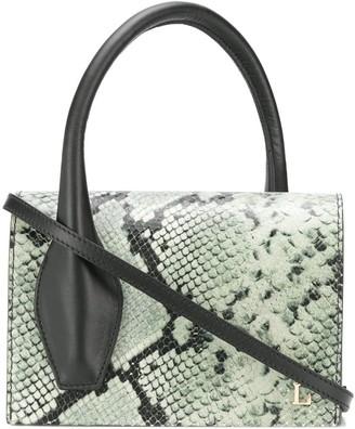 L'Autre Chose Snakeskin Effect Crossover Handle Shoulder Bag
