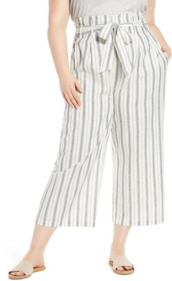 Rachel Roy Paperbag Waist Ankle Trousers (Plus Size)