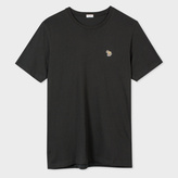 Paul Smith Men's Washed Black Zebra Logo Organic-Cotton T-Shirt