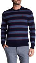Brooks Brothers Merino Wool Striped Crew Neck Sweater