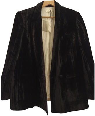 Masscob Black Velvet Jacket for Women