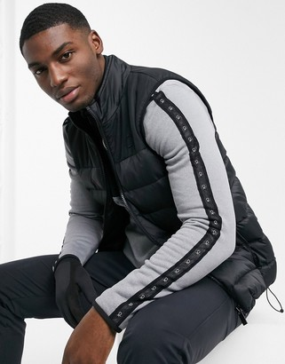 Calvin Klein Golf Lassen padded gilet in black