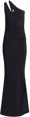 Chiara Boni Contanza One-Shoulder Ruched Gown