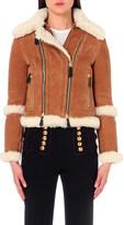 Burberry Straight-fit shearling biker jacket