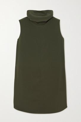 Co Crepe Turtleneck Top - Dark green