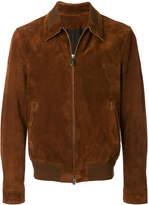 Ermenegildo Zegna zipped leather jacket