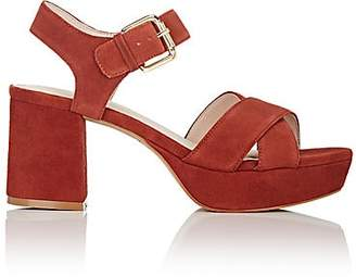 Barneys New York WOMEN'S SANDRA SUEDE PLATFORM SANDALS