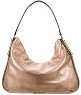 Jimmy Choo Metallic Pebbled Hobo