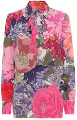 Valentino Floral silk blouse