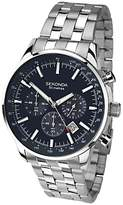 Sekonda 1008.27 Chronograph Bracelet Strap Watch, Silver/dark Blue