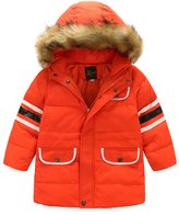 SS&CC Boys' Long Winter Hooded Down Jacket