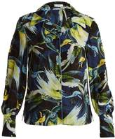 Erdem Fae Night Bird-print silk crepe de Chine shirt