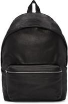 Saint Laurent Black Washed Leather City Backpack