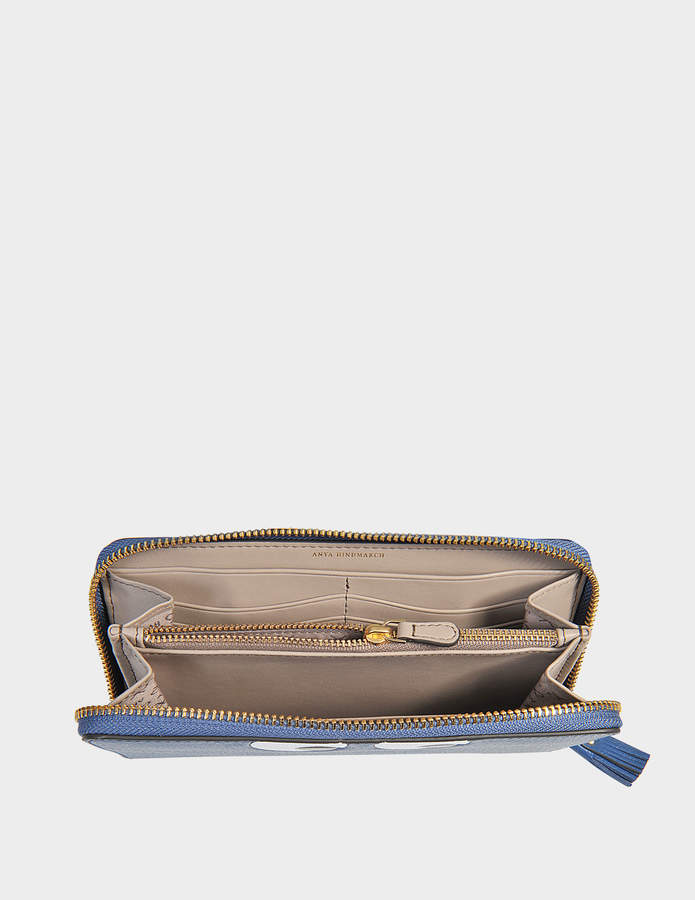 Anya Hindmarch Eyes large zip round wallet