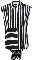 Tome striped sleeveless shirt