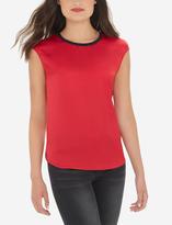 The Limited Eva Longoria Silky Short Sleeve Top