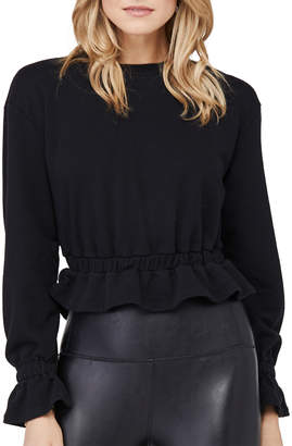 David Lerner Poppy Tulip-Sleeve French Terry Pullover