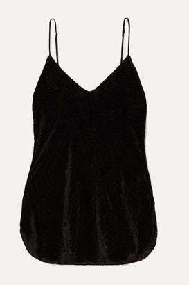 Nili Lotan Isabella Devore-velvet Camisole - Black