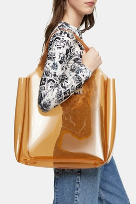 Topshop JELLY Camel Tote Bag