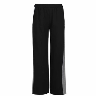 L.A. Gear Womens Open Hem Jogging Pants Colour Block (Black 10)