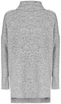 Tall oversized longline knitted jumper