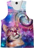 On Cue Apparel Amazed Cat Tank Top - Premium All Over Print Tanks