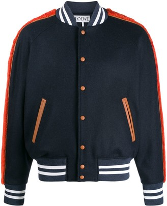 Loewe contrast trim varsity jacket
