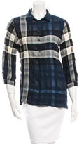 Burberry Checked Pullover TOp