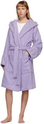 Tekla Purple Hooded Bathrobe