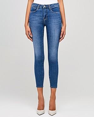 L'Agence Margot High-Rise Skinny Jeans in Light Vintage