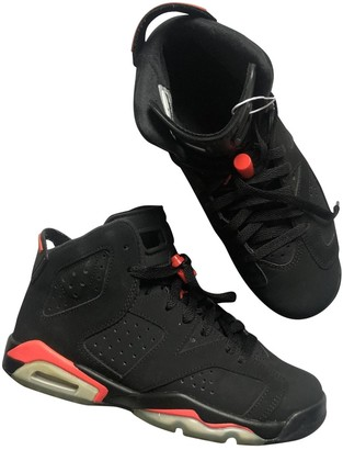 Jordan Air 6 Black Leather Trainers
