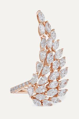 Messika Angel 18-karat Rose Gold Diamond Ring - 52