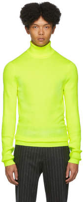 Paul Smith Yellow Roll Neck Sweater