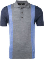 DSQUARED2 colour block polo - men - Wool - S