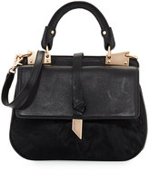Foley + Corinna Dione Calf-Hair Saddle Bag, Black