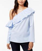 Maison Jules One-Shouder Ruffled Shirt, Created for Macy's