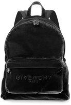 Givenchy Men's Velvet Logo Backpack, Black