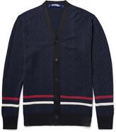 Junya Watanabe Striped Wool and Silk-Blend Cardigan
