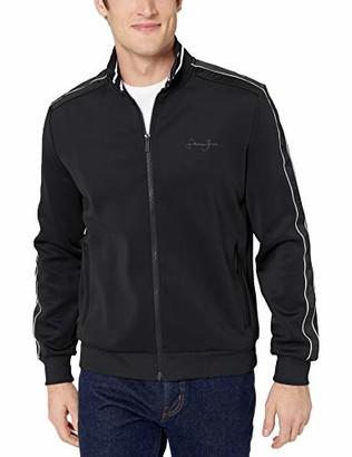 Sean John Men's Logo Taping Neoprene Jacket