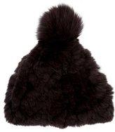 Glamour Puss Glamourpuss Fox Fur Pom-Pom Beanie w/ Tags