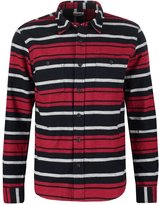 Edwin Labour Shirt Navy/red