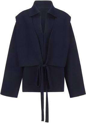 LE 17 SEPTEMBRE Le17 Septembre Tie-Detailed Stretch-Knit Jacket